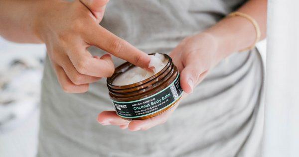 open jar of body balm